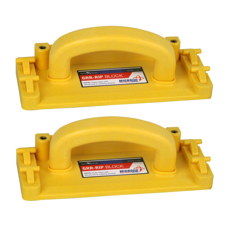 Micro Jig GB-1 GRR-RIP Block Smart-Hook Non-Slip Grip Pushblock, 2-Pack