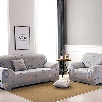Amazon Com Polyester Sofa Cover Elastic Spandex Stretch Pastoral