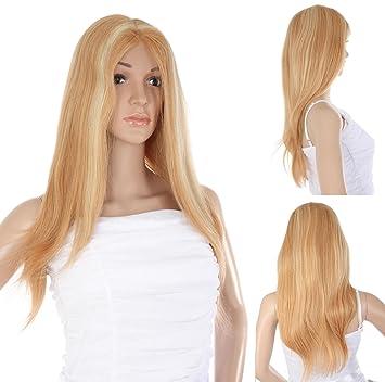 Ladieshair Full Lace Wig Perücke In Blond Kupfer Strähnchen Ca
