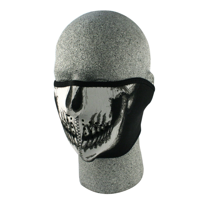 Amazon.com: ZANheadgear Neoprene Skull Half Face Mask (White/Black ...