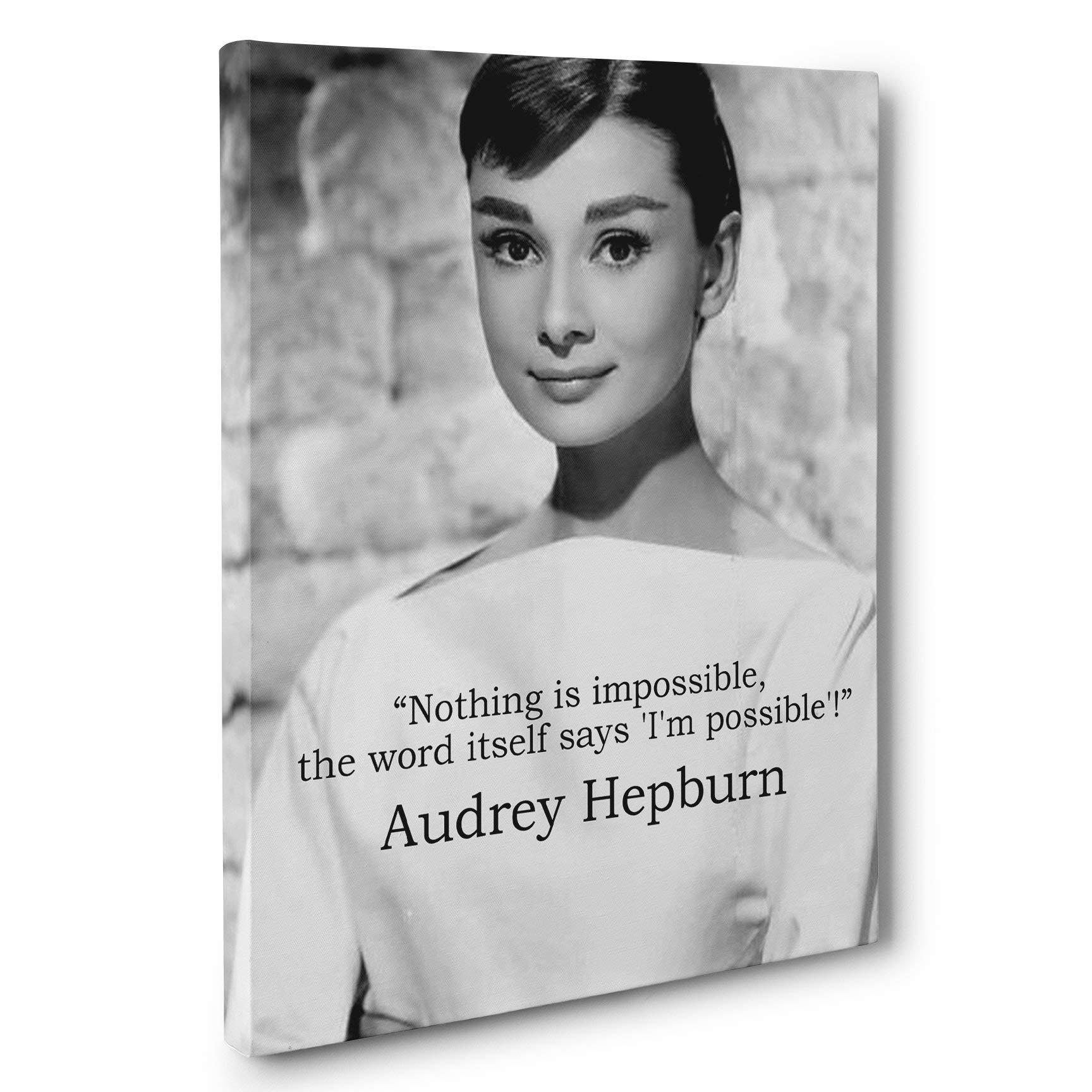 Audrey Hepburn Possible Motivation Quote Canvas Wall Art