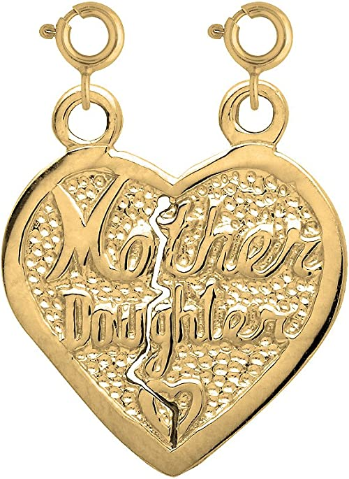 21mm Silver Yellow Plated Mom Charm