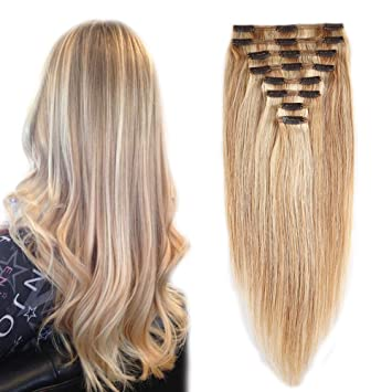 Amazon 18613 clip in 100 remy human hair extensions 18613 clip in 100 remy human hair extensions double weft 14 pmusecretfo Image collections