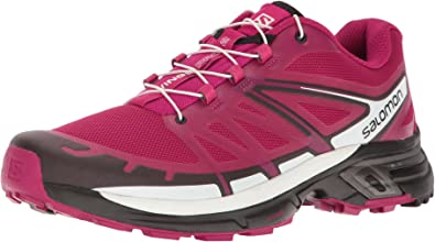 Salomon Wings Pro 2 W, Zapatillas de Trail Running para Mujer, Rojo Sangria, 45 1/3 EU: Amazon.es: Zapatos y complementos