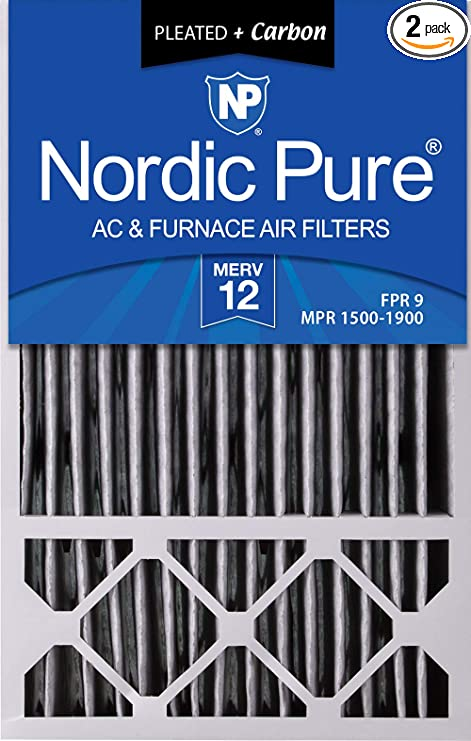 Nordic Pure 16x20x1 MERV 12 Pleated AC Furnace Air Filters 1 Pack