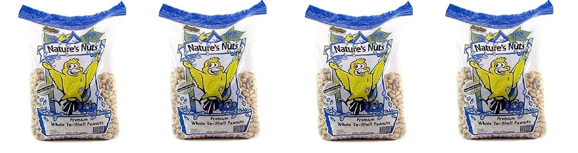 Natures Nuts Chuckanut Products Premium Whole-in-Shell Peanuts, 10 lbs (4-Pack)