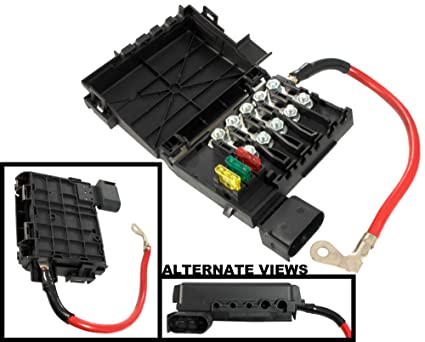 apdty 035792 fuse box assembly battery mounted with new fuses & fusible fuse  links fits 1998-2003 vw beetle