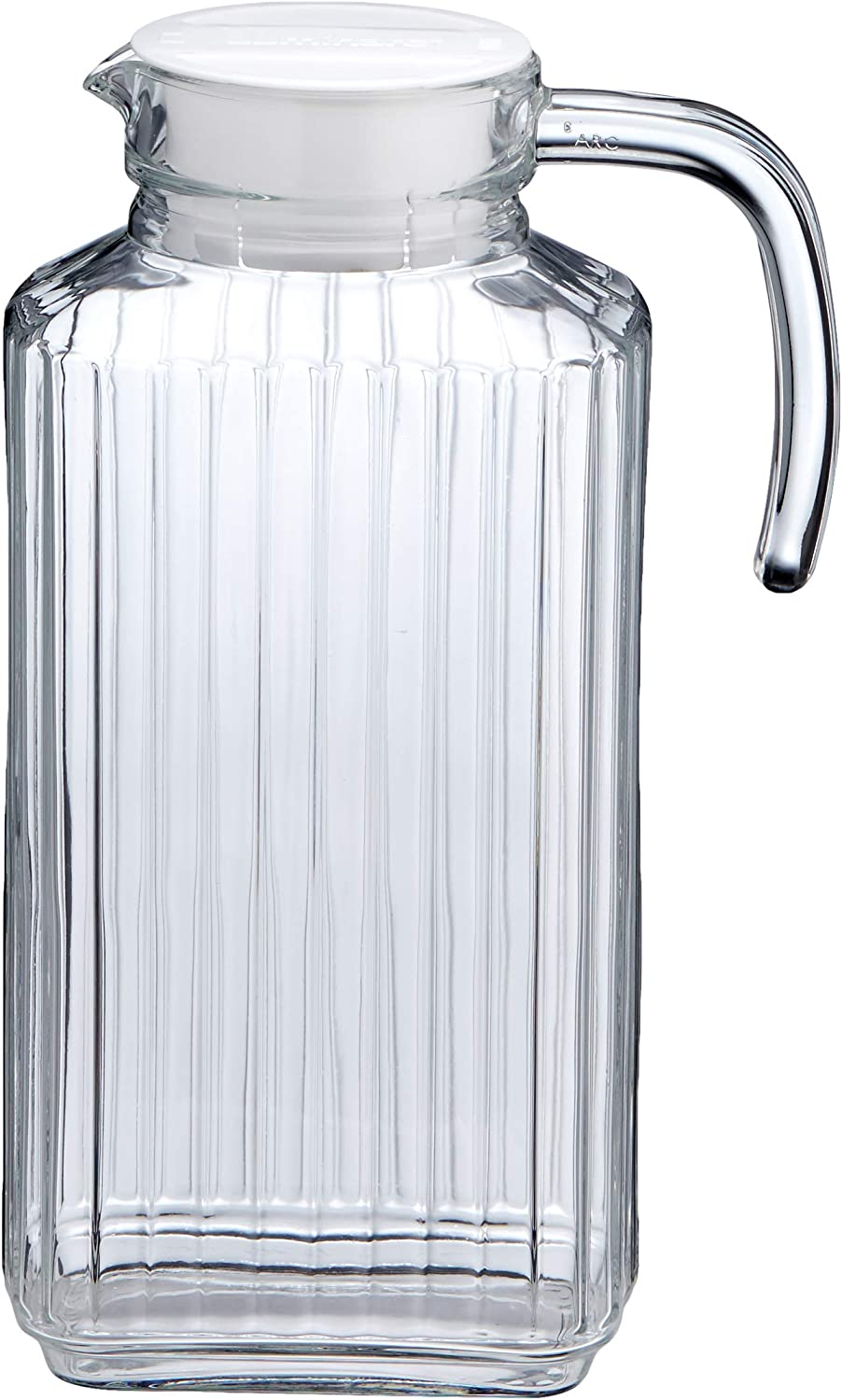 AmazonBasics 57-Ounce Glass Beverage Jug with Handle
