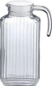AmazonBasics 57-Ounce Glass Beverage Jug with Handle