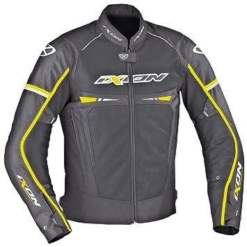 Ixon – Chaqueta Moto – Ixon pitrace, Color Negro/Blanco/Amarillo – 3
