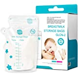 Breast Milk Storage Bags 100 Count with Pour Spout Baby Milk Freezer Safe Leak Proof BPA BPS Free Reinforced Zip Top Pre Sterilized Self Standing Storage Bag 8 oz 250 ml by USA GLAND