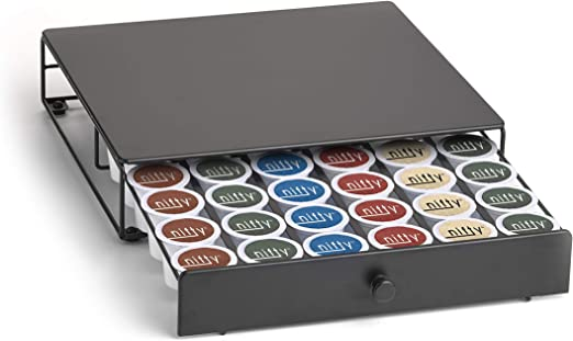 Holds 36 Coffee Nifty Under the Brewer Coffee Pod Storage Drawer for K-Cup Pods