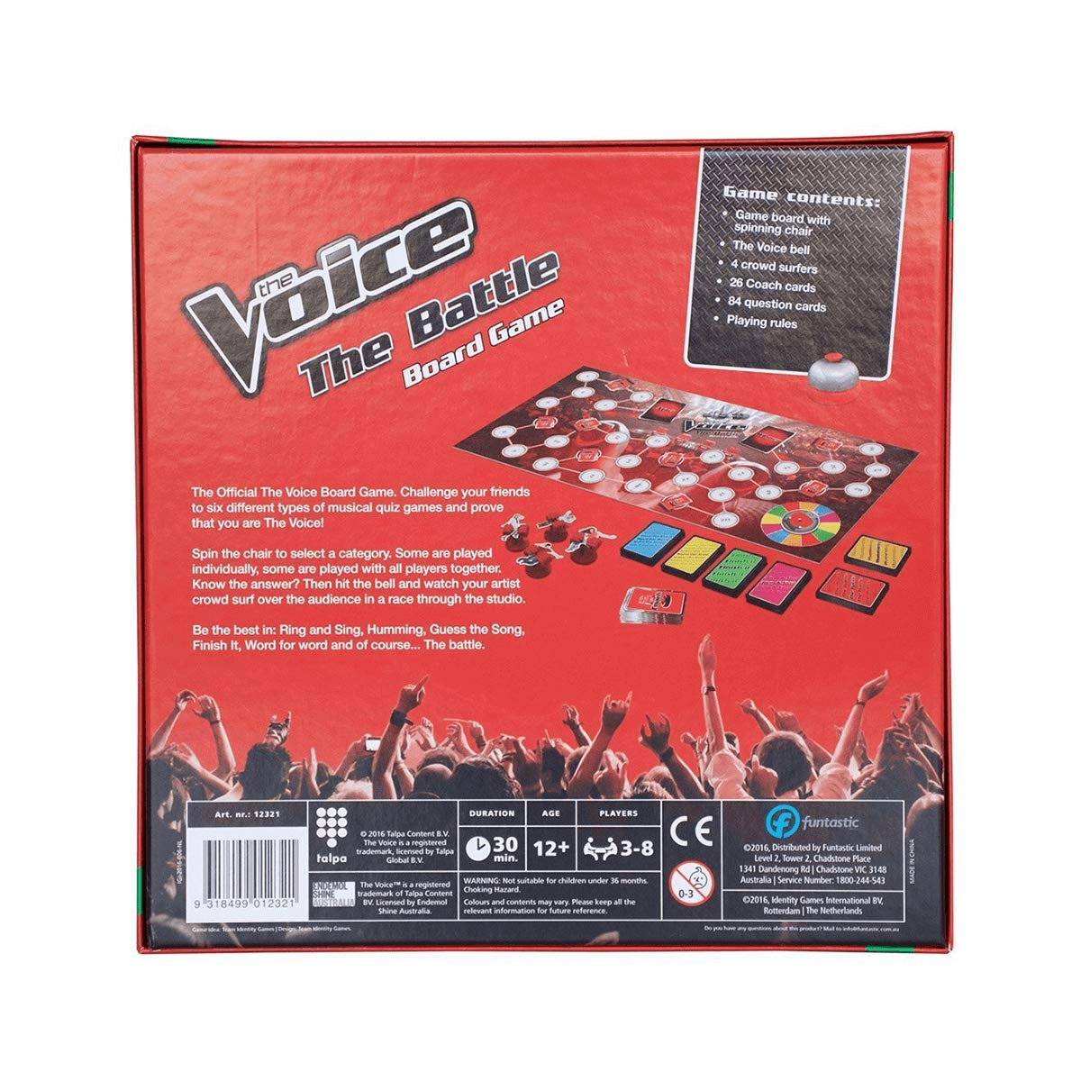 Funtastic The Voice The Battle Board Game
