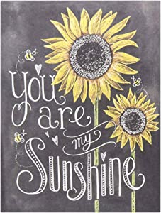 BEROSS You are My Sunshine - Sunflower Sign, Sunflower Wall Art Decor, Sunflower Gifts for Mom, Sisters, Daughters and Friends - 7.5inx10in