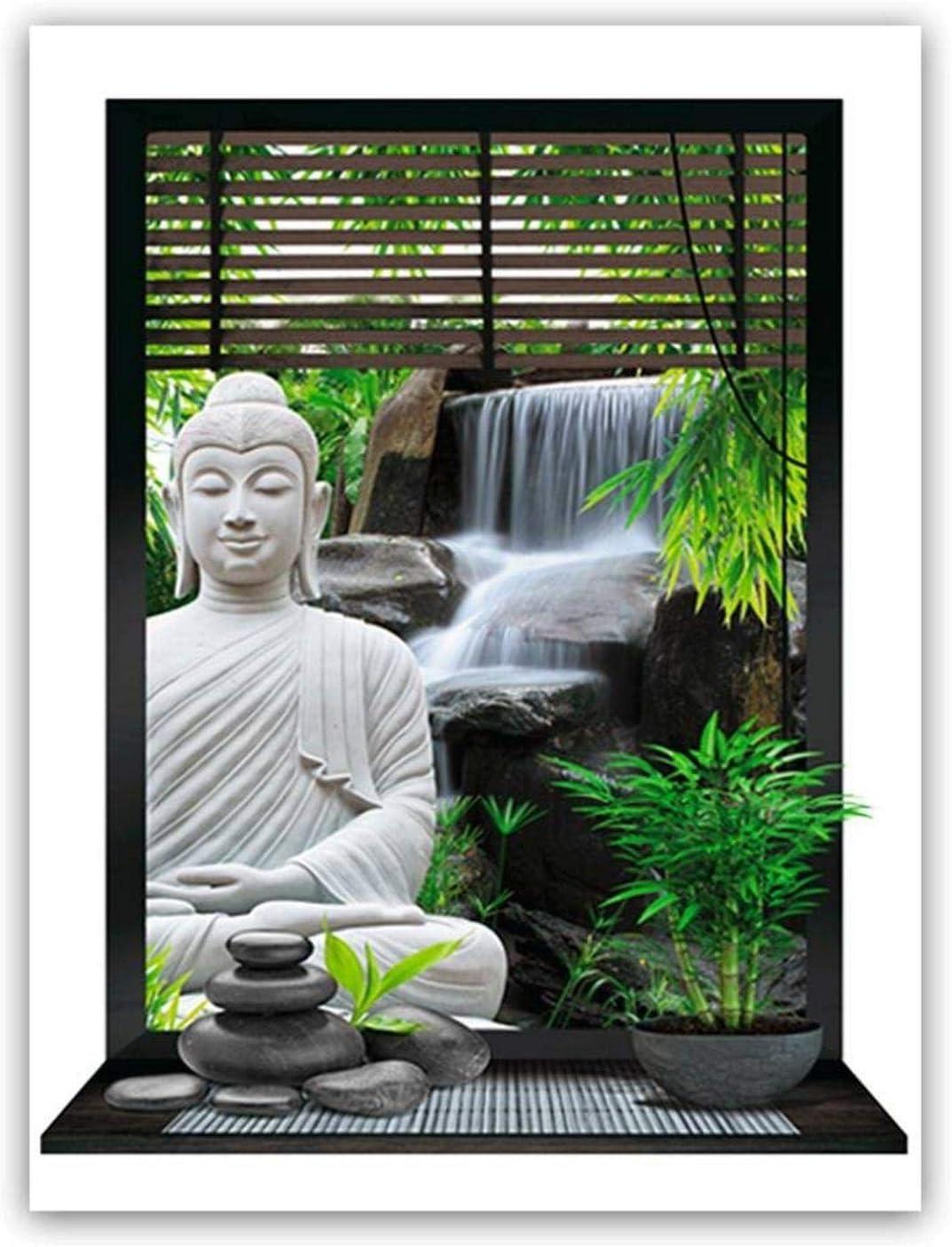 Sticker Mural Zen Trompe l'œil