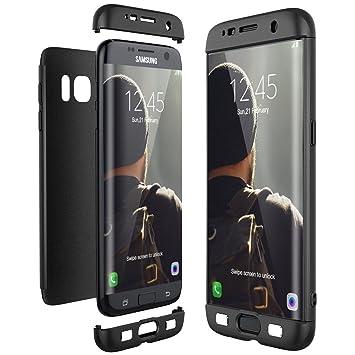 7b41066b65f Beryerbi Compatible with Galaxy s6/s6 Edge Ultra-Delgada de Dura de la PC  Cubierta de 360°Caja Protectora Anti-rasguños Estuche para Case (Galaxy s6,  ...
