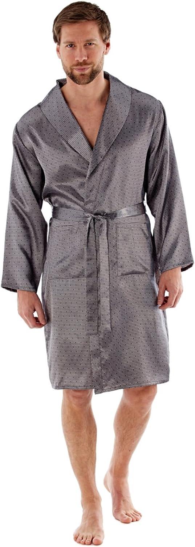 Harvey James Leggero Lusso Kimono in Raso con vestibilit/à Wrap M L XL 2XL