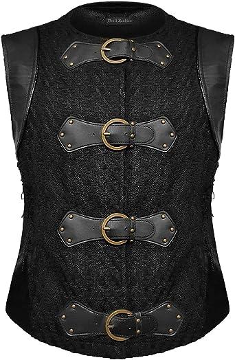 Devil Fashion - Chaleco para Hombre, Estilo Steampunk, Talla Medieval, Color Negro: Amazon.es: Ropa y accesorios
