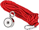 Fishing Magnet with Grappling Hooks,66ft Rope