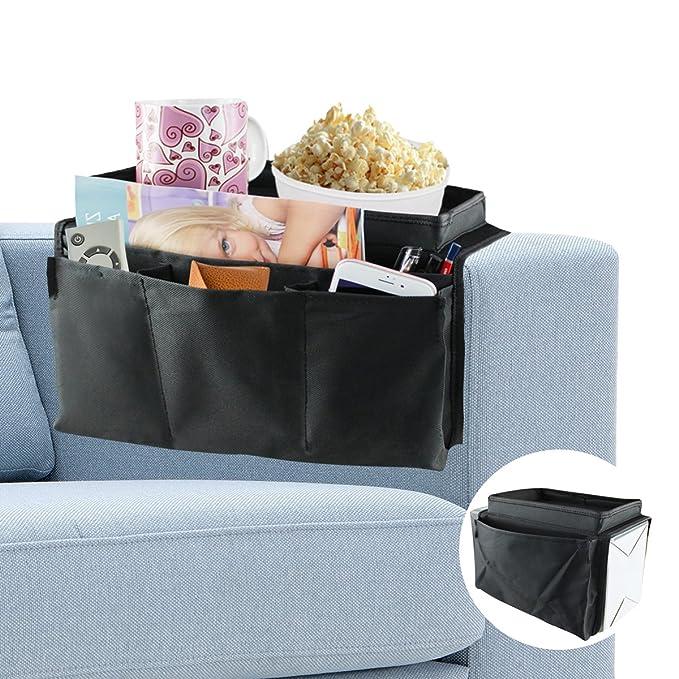 Sofa Couch Chair Armlehne Caddy Pocket Organizer Aufbewahrungstasche Multipockets für Bücher Handys Fernbedienung Möbel & Wohnaccessoires Utensilientaschen