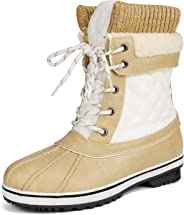 DREAM PAIRS Women's Monte Mid Calf Winter Snow Boots