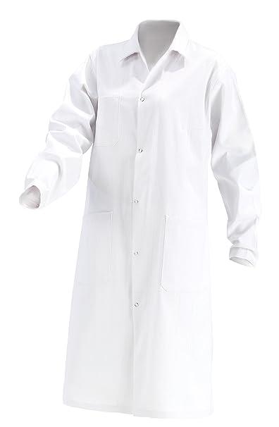 Kokott Abrigo de laboratorio para mujer,Segunda selección, 100% algodón, bata blanca