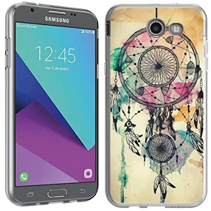 Amazon.com: Samsung Galaxy J3 emerge Caso – (Crystal Clear ...