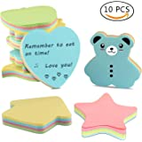 Sticky Notes, Kereda Self-Stick Notes in Different Shapes, Colorful Super Sticky Notes,100 Sheets/Pad for Students, Home, Office, Easy Post(Pack of 10)