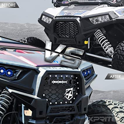 Fits 2014-2017 Polaris RZR XP 1000 Stainless Steel Upper Black mesh Grille