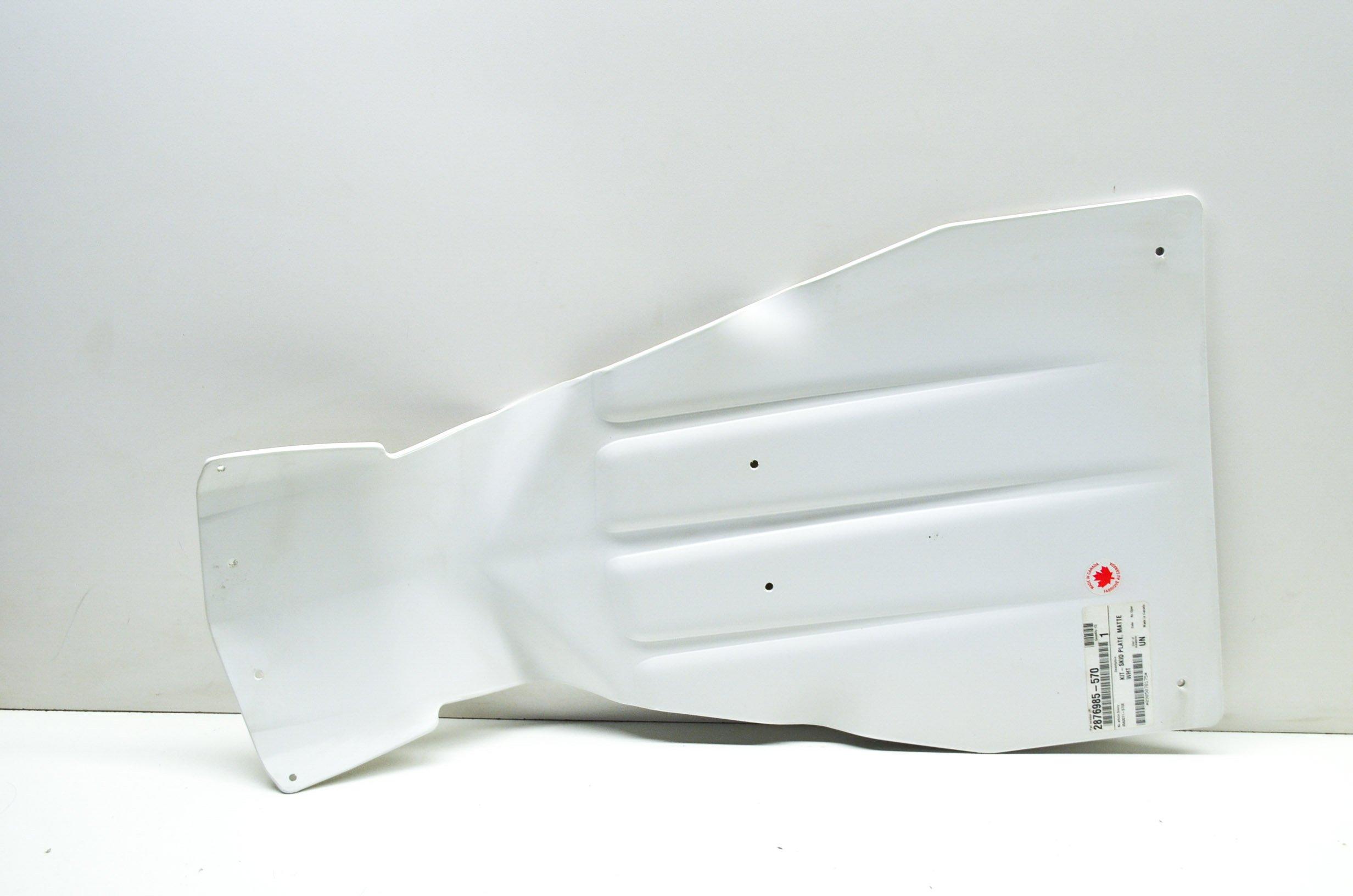 SKID PLATE, WHITE, 2009-2013 POLARIS IQ SNOWMOBILES , Genuine Polaris OEM ATV / Snowmobile Part