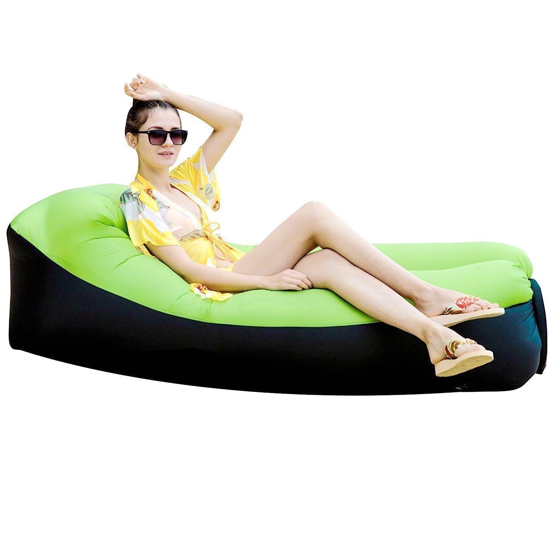 Tongfushop Aufblasbares Sofa Wasserdichtes Aufblasbares Liege Air Sofa, Aufblasbare Couch Tragbar Outdoor Sofa für Drinnen, Freizeit Reisen und Schwimmbad