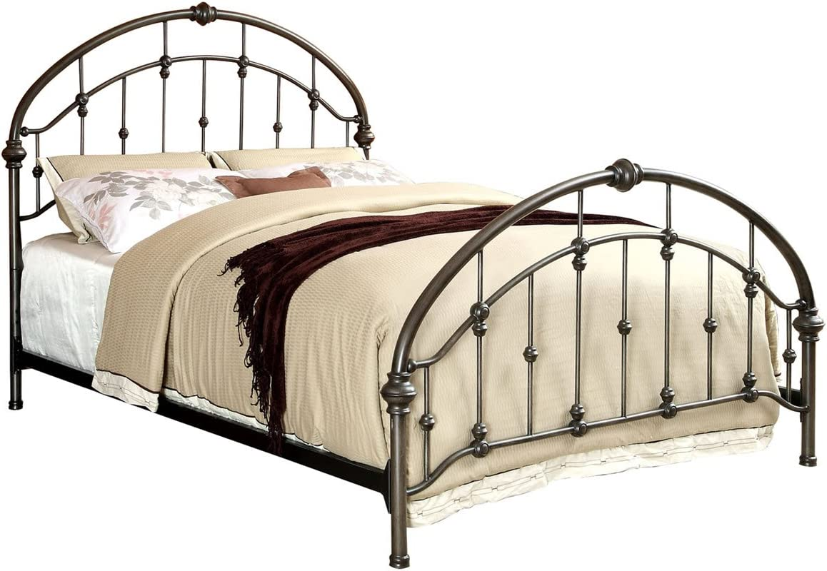 Carrick Brushed Bronze Metal Queen Platform Bed
