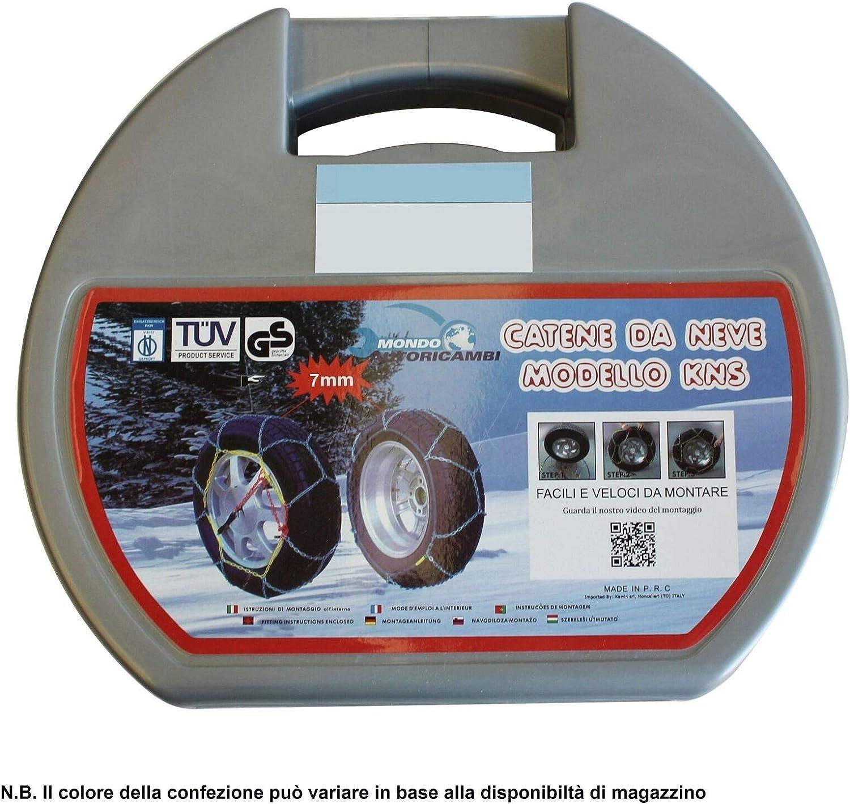 Kawin Catene da Neve OMOLOGATE 255 35 19 V5117 7mm 255//35-19 R19