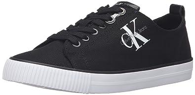 Calvin Klein Dora Canvas Blk, Baskets Basses Femme, Noir (Black R3556Blk), 38 EU