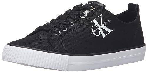 Calvin Klein Dora Canvas Blk, Zapatillas para Mujer: Amazon.es: Zapatos y complementos