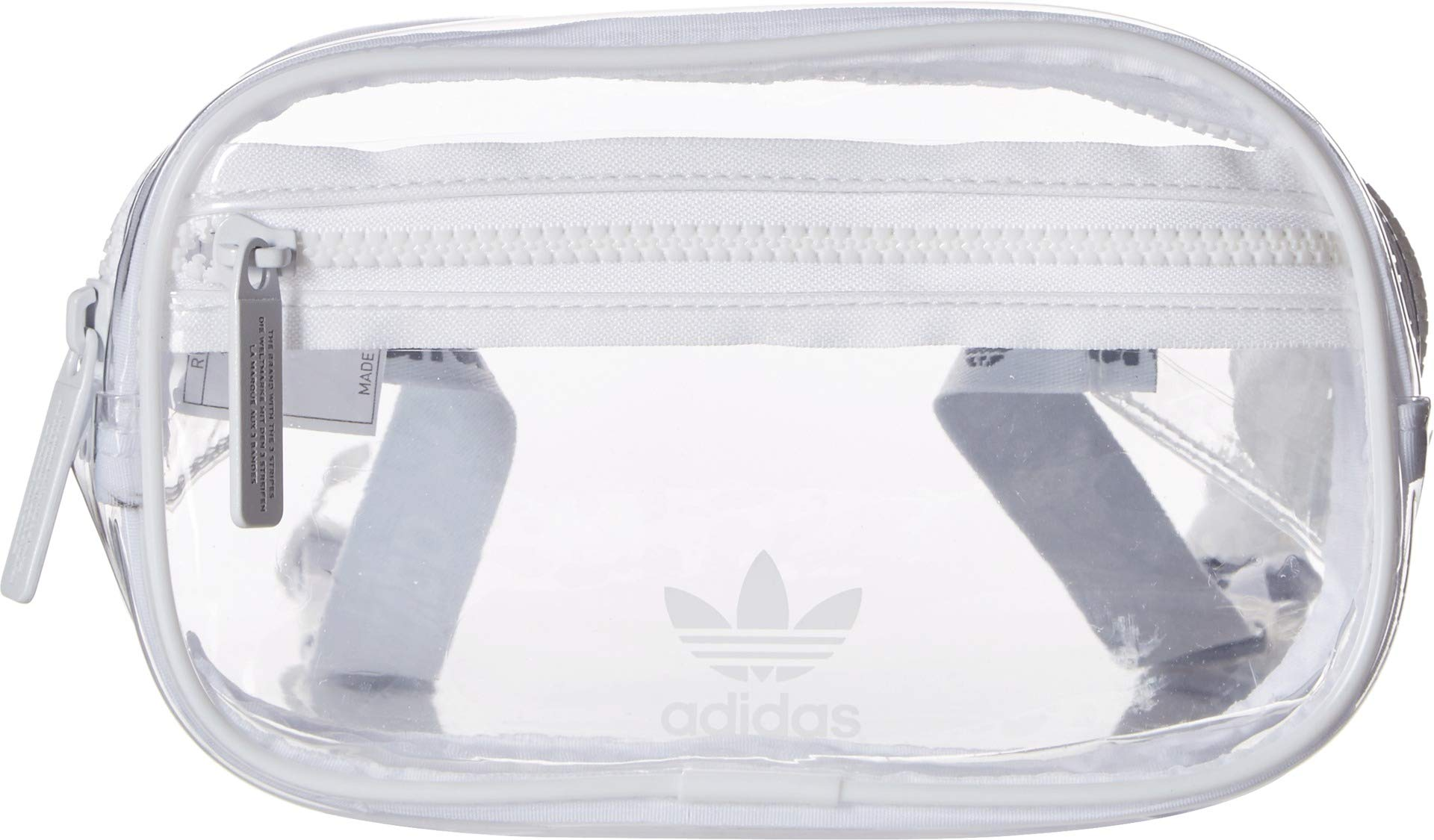 adidas Originals Unisex Clear Waist Pack, White, ONE SIZE by adidas Originals
