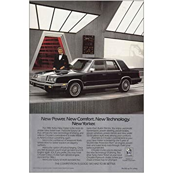 Amazon.com: 1986 Chrysler Nuevo Yorker: Ricardo Montalban ...