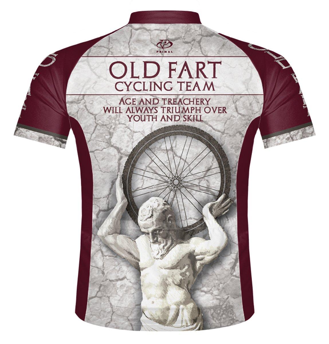 Amazon.com   Primal Wear Old Fart Atlas Cycling Jersey Men s Short Sleeve    Sports   Outdoors e2472011a