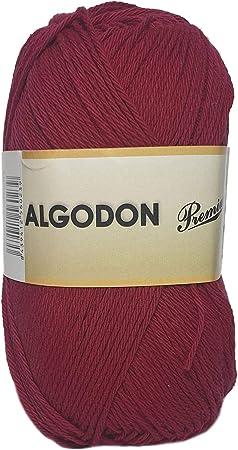 Hilo Acrílico Ovillo de Lana Algodón Premium perfecto para DIY y tejer a mano (Color Granate 100 g, aprox. 220 metros): Amazon.es: Hogar