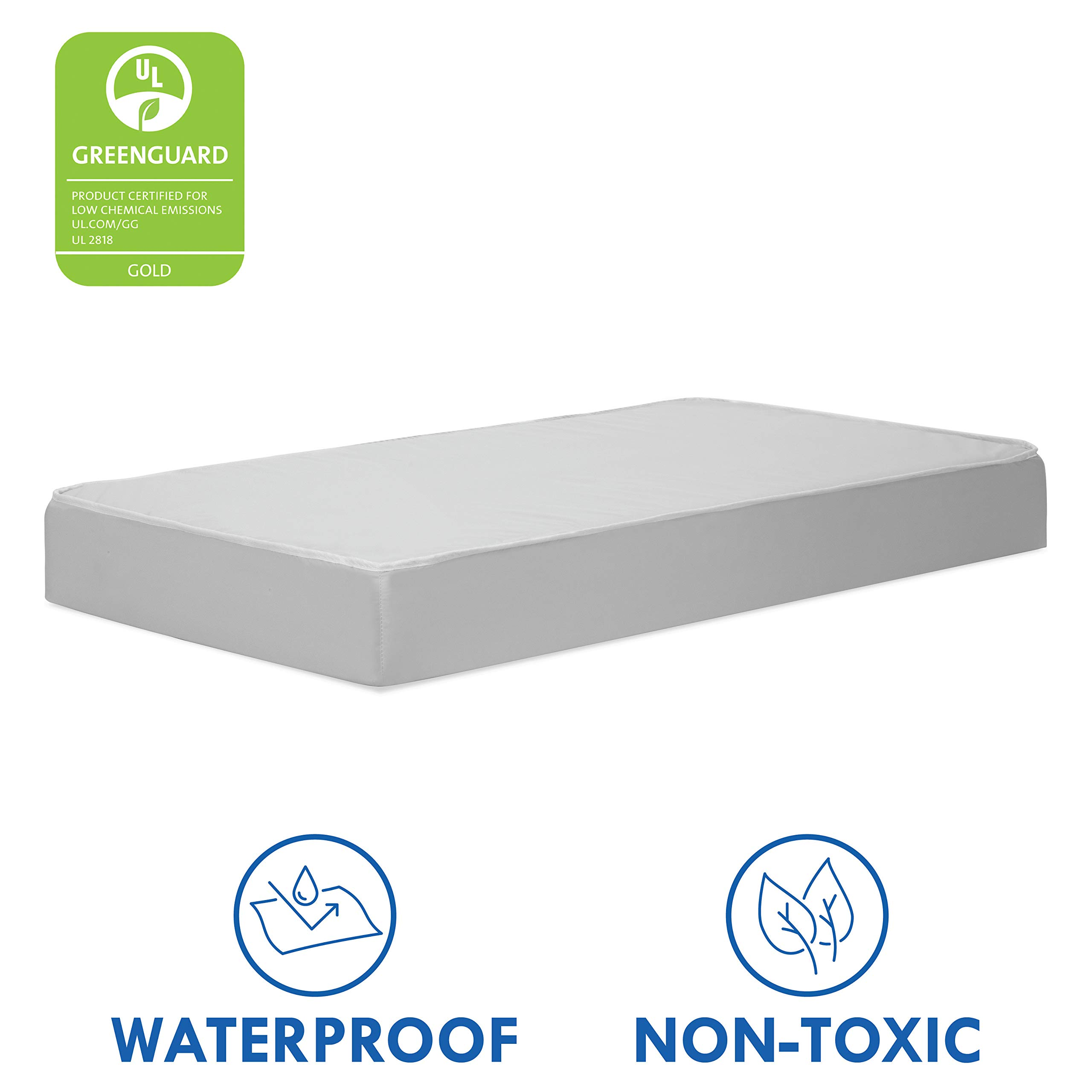 DaVinci Deluxe Coil Waterproof Dual-sided Crib & Toddler Mattress | Extra Firm | GREENGUARD Gold Certified | 100% Non-Toxic by DaVinci