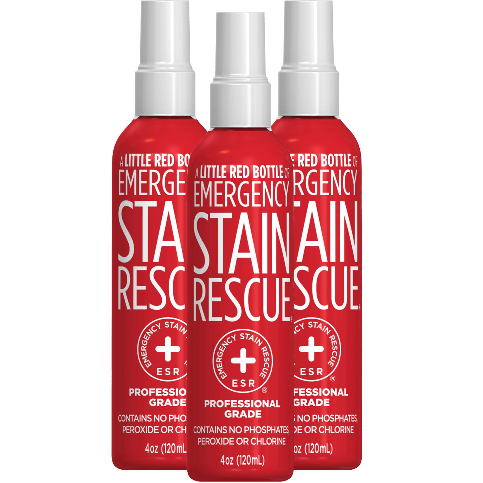 Emergency Stain Rescue Professional Grade Formula Stain Remover (120ml, 4 oz) | 3 Pack | Stain Remover for Clothes | Carpet Spot Cleaner | Non Toxic by Emergency Stain Rescue