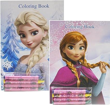 - Amazon.com: Disney Frozen Coloring Books Elsa And Anna (2 Books): Toys &  Games