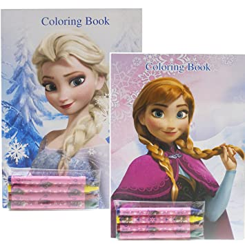 Disney Frozen Coloring Books Elsa and Anna (2 Books): Amazon ...