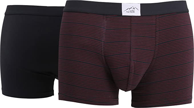 bb99c21bc139 Tom Tailor 2-Pack Briefs Single-Jersey Anthracite/Anthracite-red Stripes  Size