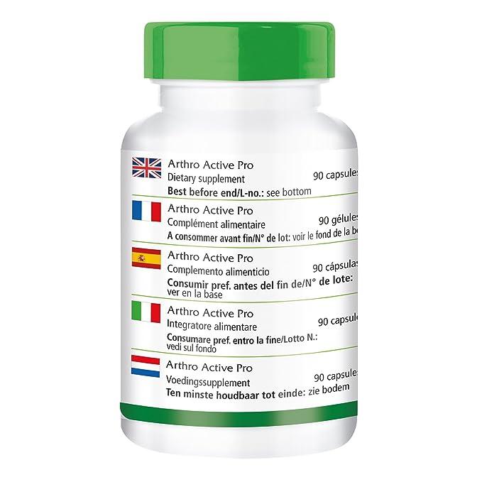 Conjunto Activo Pro - 1 mes - ALTA DOSIS - 90 cápsulas - con la glucosamina, condroitina, MSM y más: Amazon.es: Salud y cuidado personal