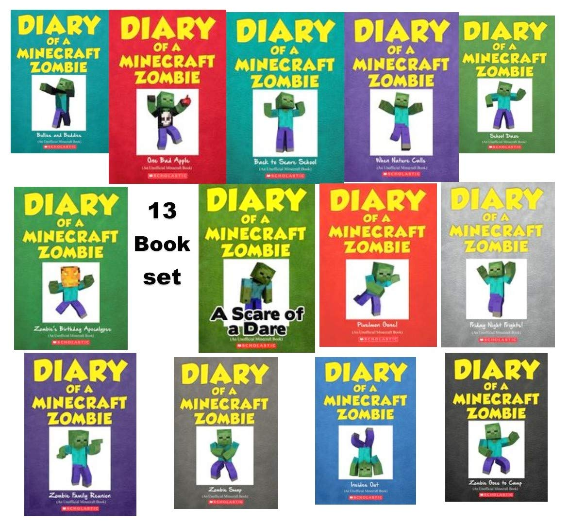 Diary of a Minecraft Zombie Book Vol 9-93 Collection 93 Books