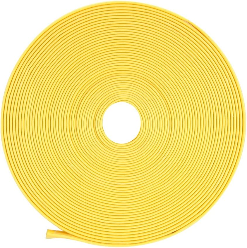 sourcingmap Heat Shrink Tube 2:1 Electrical Insulation Tube Wire Cable Tubing Sleeving Wrap Yellow 12mm Diameter 10m Length