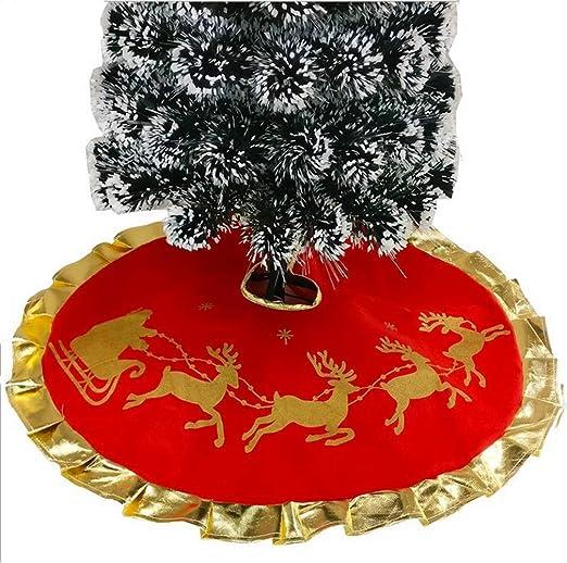 Da.Wa 1X 100CM Rojo Árbol de Navidad Falda Alces de Navidad Pie de ...