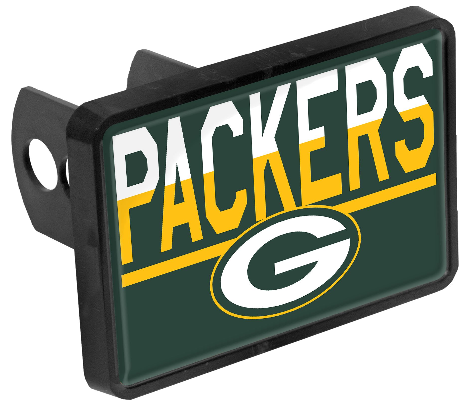 Stockdale Green Bay Packers Color Duo Tone Universal Hitch Bumper Trailer Cover Football by Stockdale