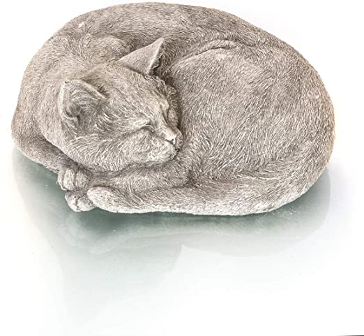 Antikas - Gato Que Duerme - Estatua de Animal decoración jardín ...